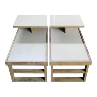 Mid-Century Modern Dunbar Alfred Wormly Step Tables - a Pair For Sale