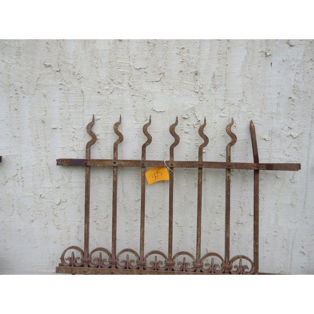 Antique Victorian Iron Gate Architectural Salvage Door - Image 3 of 6