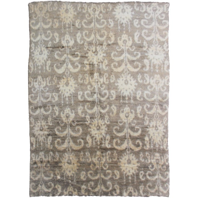 Hand Knotted Ikat Rug - 8′ × 10′1″ - Image 1 of 2