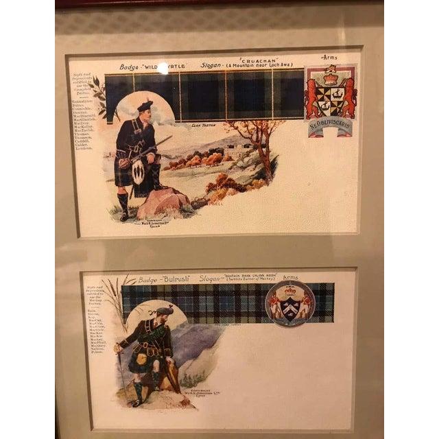 Glass Set of 12 Custom Finely Framed Scottish Postcards, Vintage Catherine Reiss Inc For Sale - Image 7 of 11