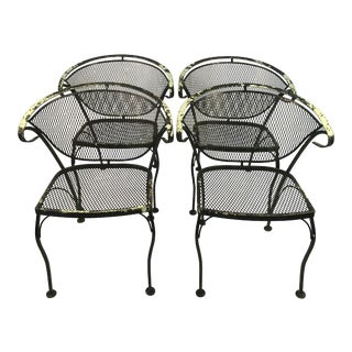 1960s Vintage Salterini Italian Outdoor Chairs - Set of 4 For Sale