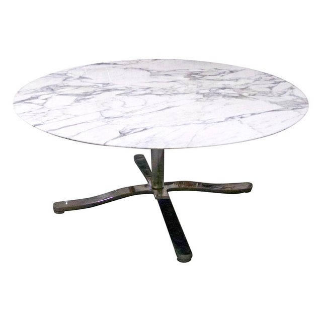 "Nicos Zographos Round Carrara Marble ""Alpha"" Dining or Conference Table For Sale - Image 13 of 13"