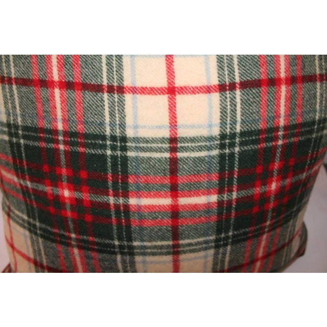 Adirondack Pair of Wool Plaid Pillows For Sale - Image 3 of 5