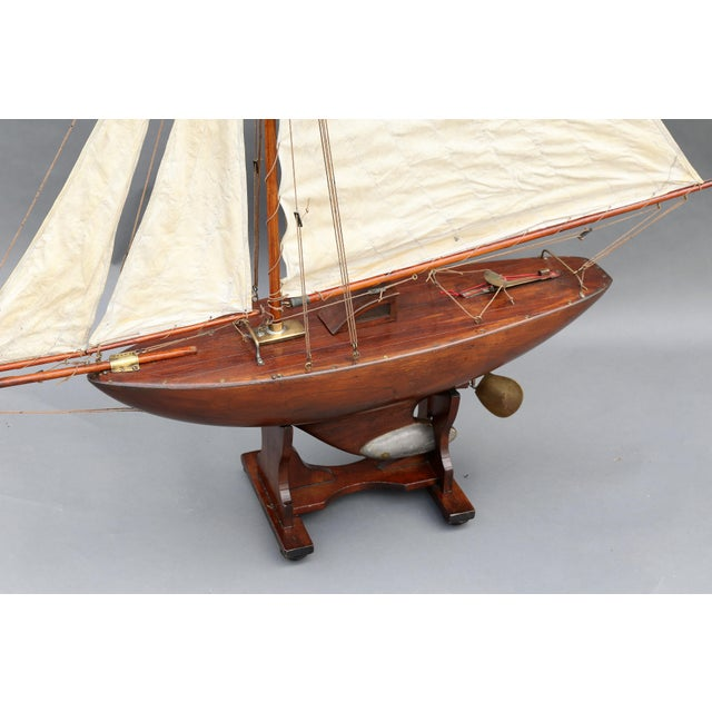 Large Antique English Pond Yacht - Image 8 of 10
