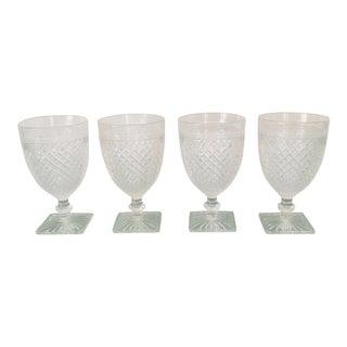 Antique Mid Century Glassware- Set of 4 For Sale