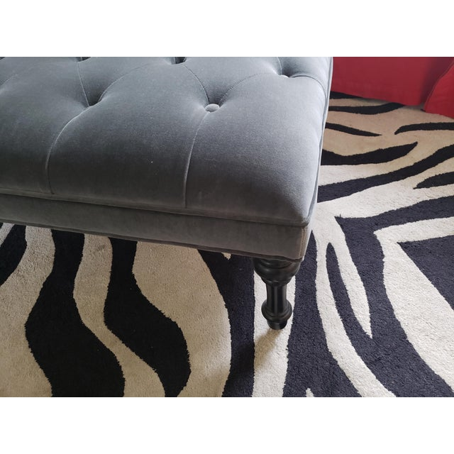 Gray Tufted Love Seat Settee by Cisco Home For Sale In San Francisco - Image 6 of 13