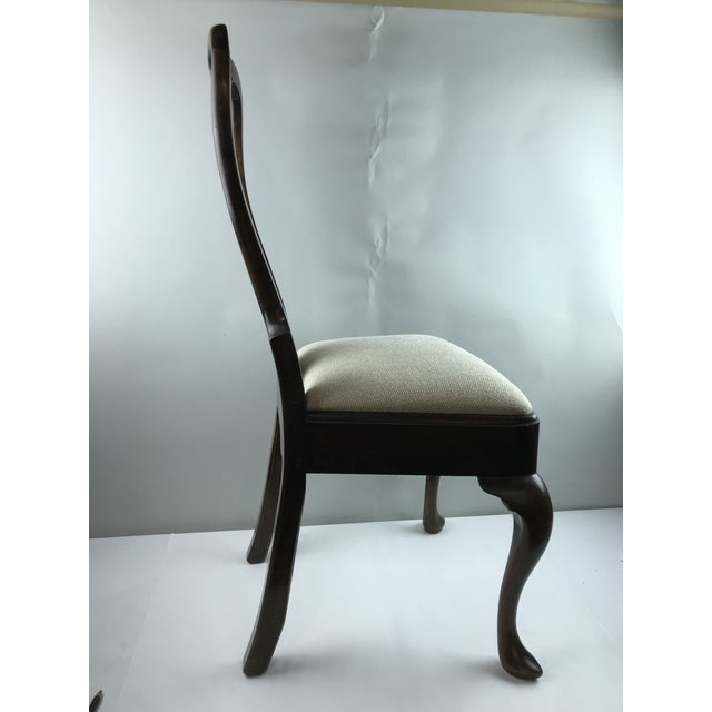 Early 19th Century Early 1800's Quene Anne Wool Upholstered Wooden Side Chair For Sale - Image 5 of 13