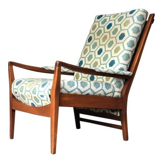 Vintage 1950s Cintique Lounge Chair For Sale