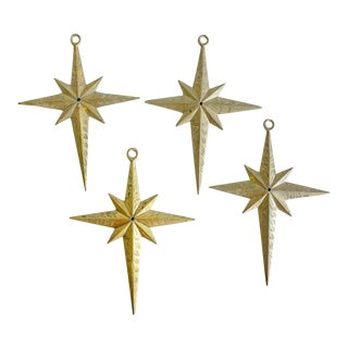 Vintage Brass Star Hardware Hollywood Regency Style For Sale