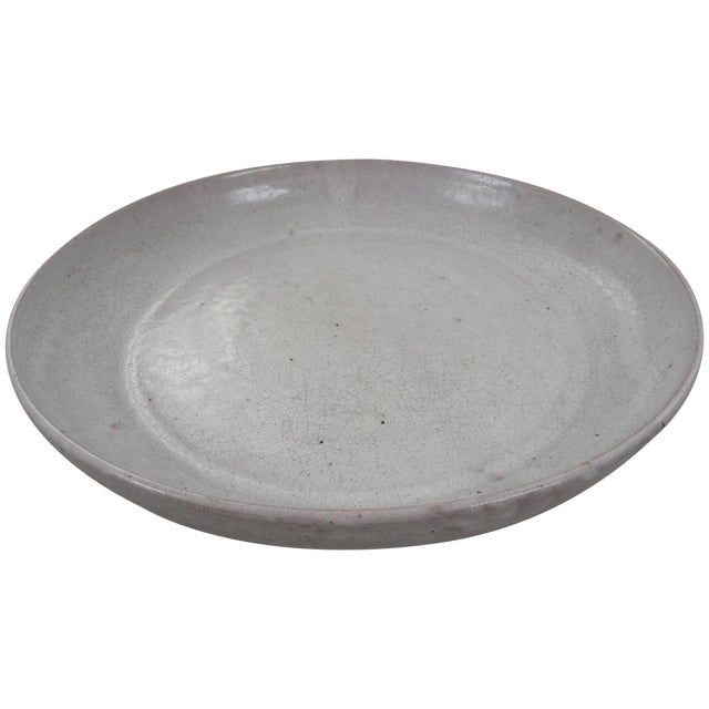 18th Century White Oriental Charger For Sale