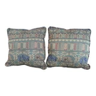 Jungle Motif Pillows - A Pair For Sale