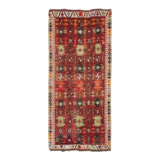 Vintage Turkish Kayseri Kilim Rug For Sale