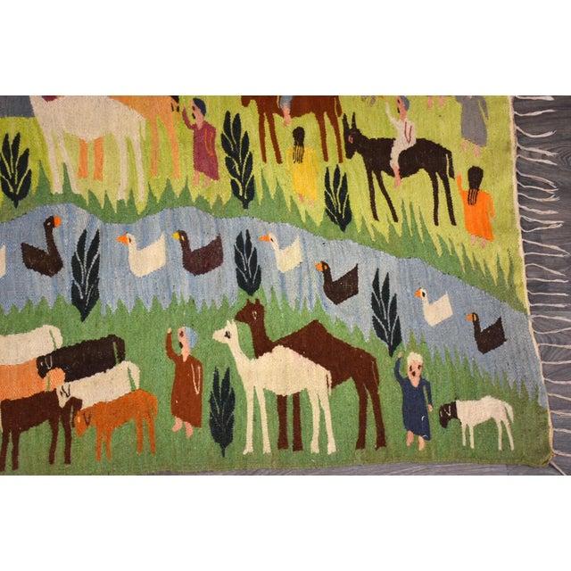 1950s Handmade Wool Kilim Tapestry Rug For Sale - Image 5 of 10