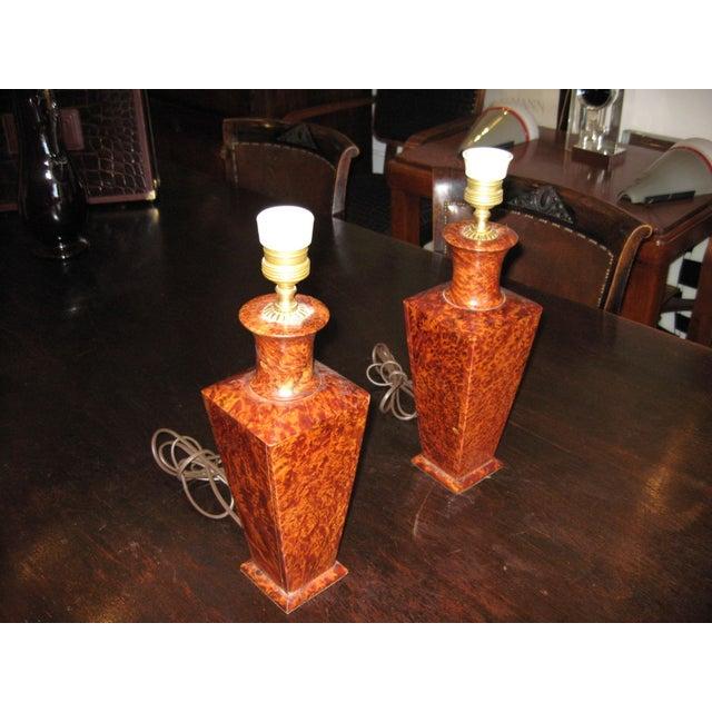 Deco Italian Lamps - a Pair - Image 2 of 4