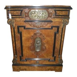 Antique Burled Walnut Cabinet For Sale