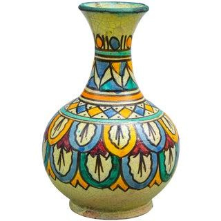 Antique Moroccan Ceramic Vase For Sale