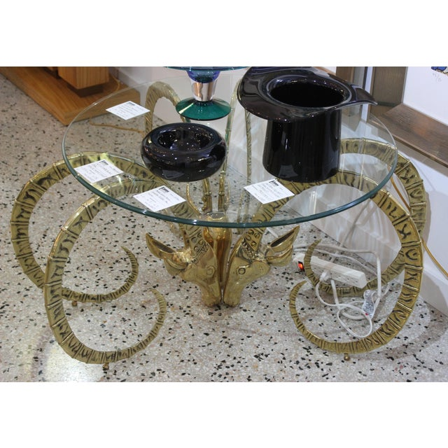 Art Deco Brass Ibex Figures for Table Base - Set of 3 For Sale - Image 3 of 12