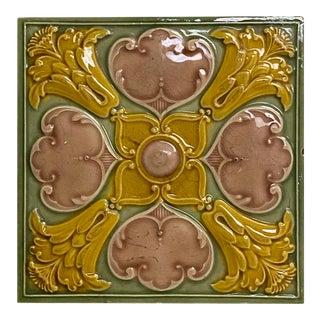 Antique English Traditional Minton Tile For Sale