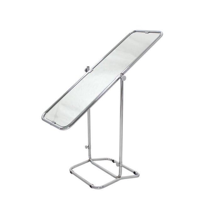 Silver 1950s Vintage Mid-Century Modern Cheval Mirror For Sale - Image 8 of 10