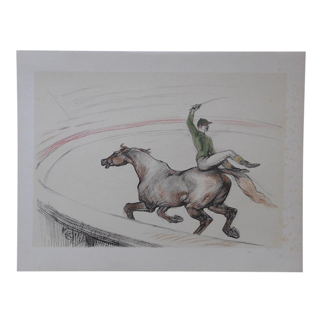 "Vintage ""The Circus"" Toulouse Lautrec Lithograph For Sale"