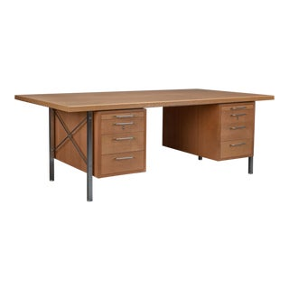Hans Wegner for Johannes Hansen Model A164 Oak Desk For Sale