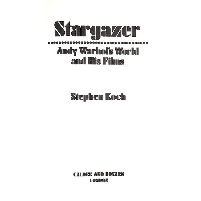 Stargazer: Andy Warhol's World and His Films Book - Image 2 of 5