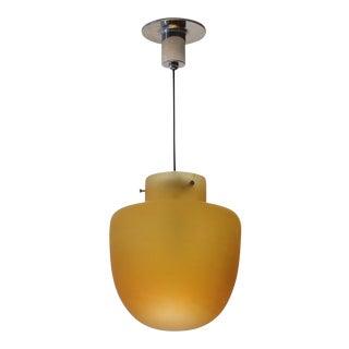 Studio Venini Amber Pendant, Murano Italy 1950s For Sale