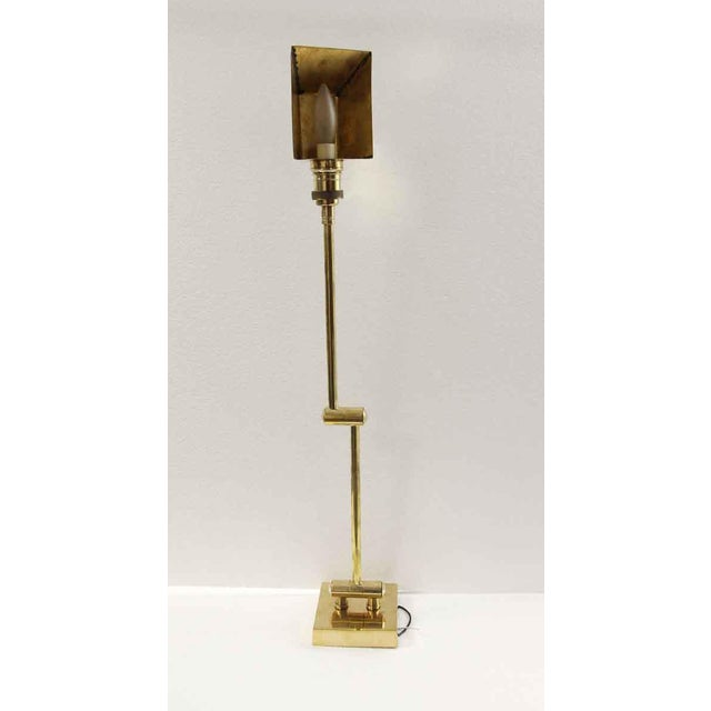 Metal Articulating Arm Brass Wall Sconce For Sale - Image 7 of 9