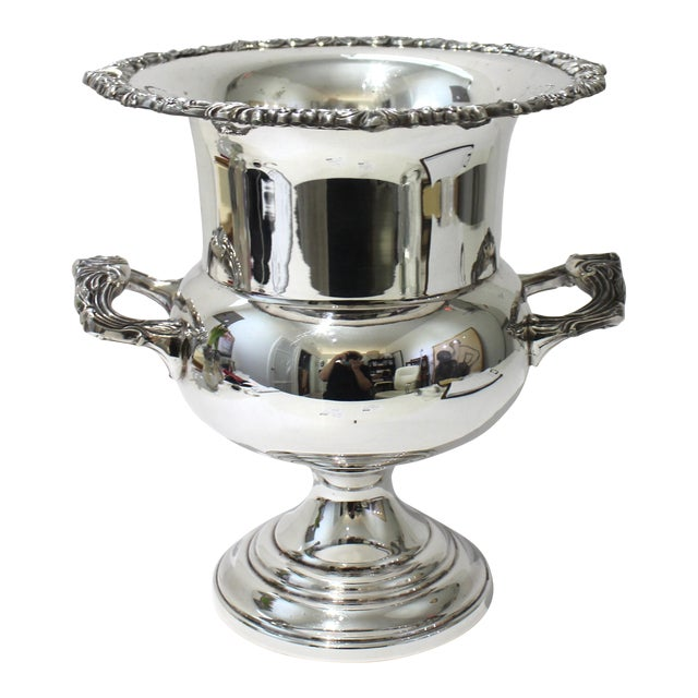 Vintage Sheridan Champagne Ic Bucket Silver Plate For Sale