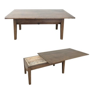 Early 19th Century Rustic Country French Petrin ~ Coffee Table For Sale