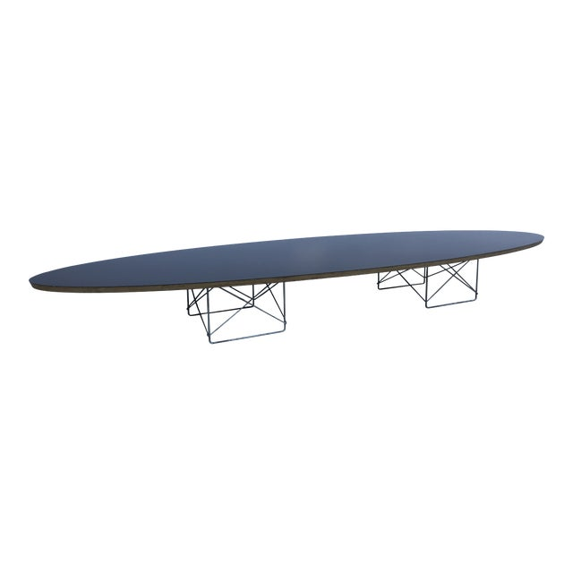 Mid-Century Modern Herman Miller Black Laminate Surfboard Coffee Table For Sale