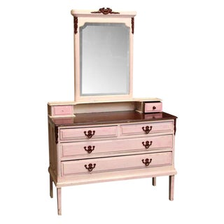 Painted Dresser With Beveled Mirror
