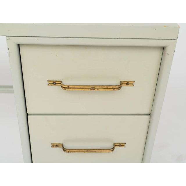 Tommi Parzinger Tommi Parzinger Style Celadon Lacquered Desk For Sale - Image 4 of 9