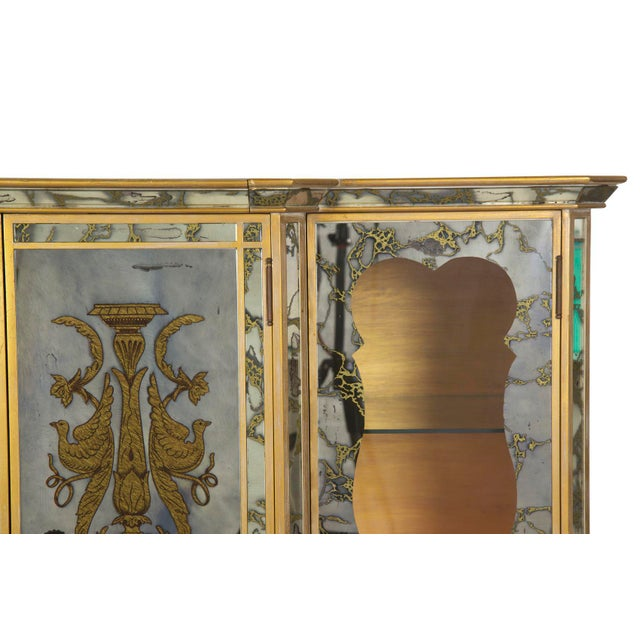 French Art Deco Smoked Mirror Bar Server Console Sideboard, C. 1940s For Sale - Image 10 of 13