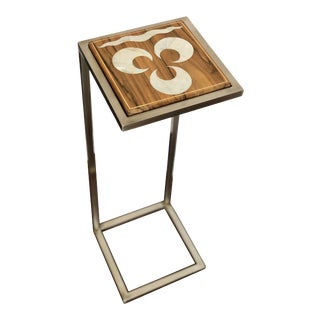 Contemporary Style Mother of Pearl Inlaid Side Table For Sale