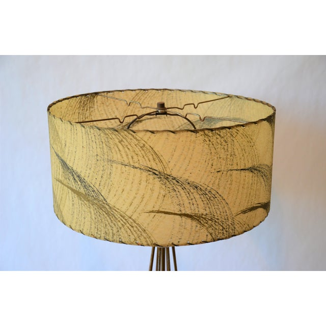 Industrial Atomic Modern Wire Frame Lamp and Shade For Sale - Image 3 of 12