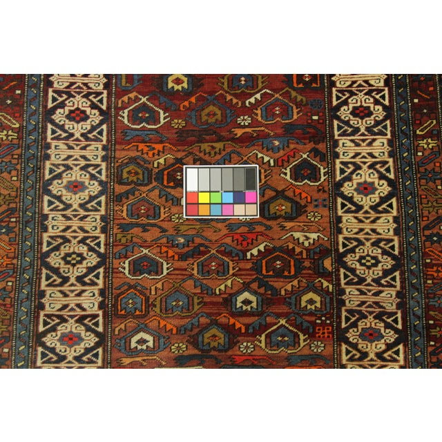 Antique Persian Rug Shirvan Design With Dainty Heart-Shaped Patterns Circa 1930's - 4′2″ × 9′8″ For Sale - Image 11 of 12