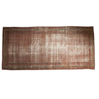 "Antique Distressed Mir Serbend Carpet - 5'11"" X 12'9"""