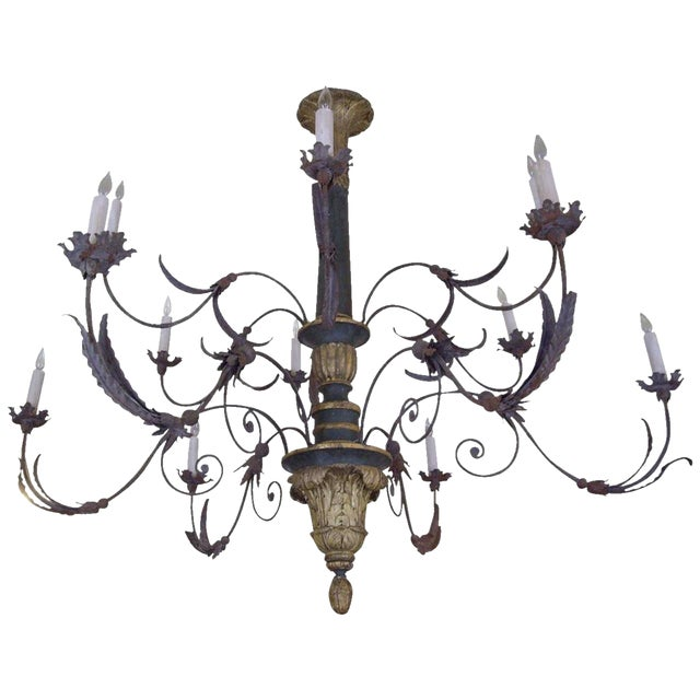 Very Large Late 18th/19th Century Italian Chandelier For Sale