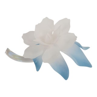 Vintage Frosted Lucite Decorative Flower For Sale