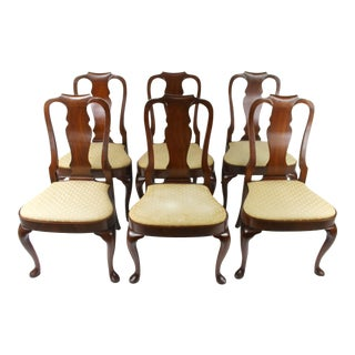 1910s Queen Ann Dining Chairs - Set of 6 For Sale