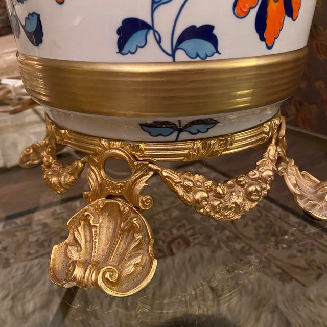 Antique Sevres Porcelain & Ormolu Marbro Lamps -a Pair For Sale In Denver - Image 6 of 13