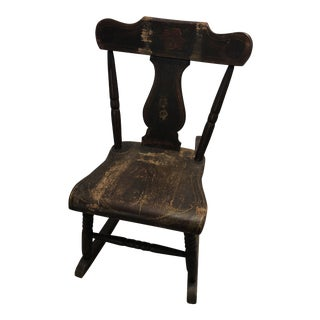 Early 20th Century Antique Child's Rocking Chair For Sale