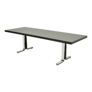 """Vintage 54"""" Thonet York Pa Mid Century Modern Steel Chrome Bench Coffee Table For Sale"""
