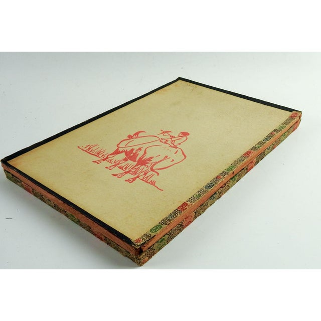 Asian 1920s Chinese Block Print on Stationary For Sale - Image 3 of 6