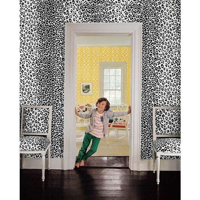 Paper Schumacher Iconic Leopard Pattern Animal Print Wallpaper in Ink Blue - 2-Roll Set (9 Yards) For Sale - Image 7 of 7