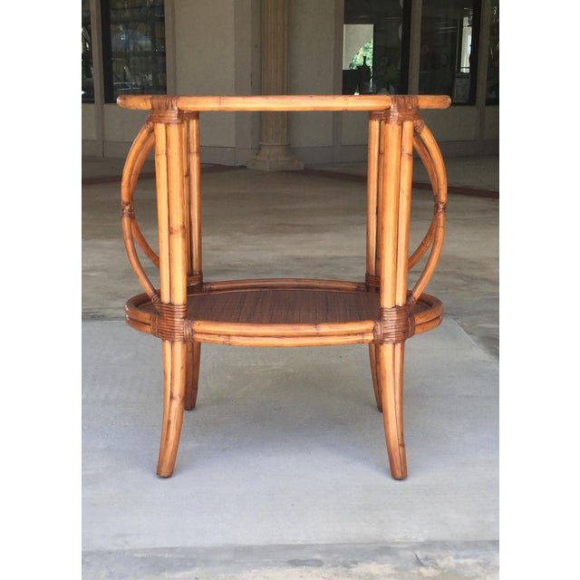 Traditional Traditional Ethan Allen Tommy Bahama Style Bamboo Tray Table For Sale - Image 3 of 7