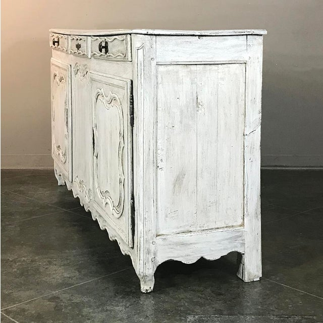 18th Century Country French Whitewashed Buffet For Sale - Image 4 of 13