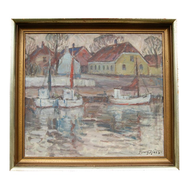 """Nørrekaas - Rønne"" Painting by Georg Hals - Image 1 of 5"