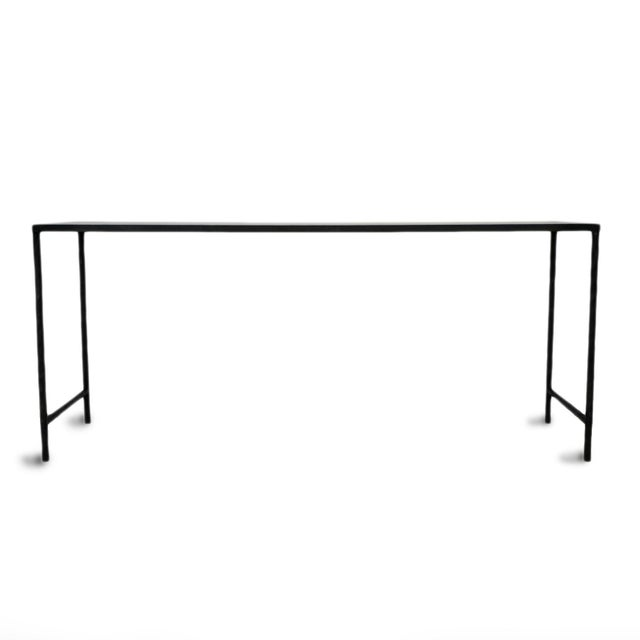 Vintage Modern Marble & Iron Console For Sale - Image 4 of 10